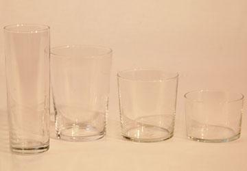 Alquiler Vasos de cristal para eventos.