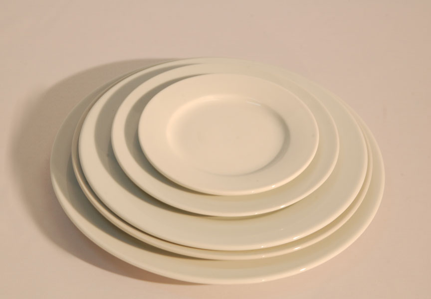 Plato de porcelana blanca masba events terra alta for Platos porcelana blanca
