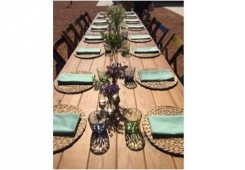 cadira plegable + taula nogal